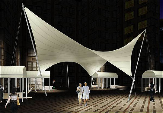 Tension Fabric And Tensile Membrane Structures Prefabricated